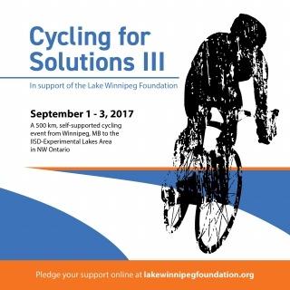 Cycling for Solutions Lake Winnipeg CBM