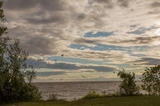 Clouds over Lake Winnipeg at Grand Beach