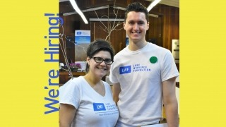 a photo of the LWF communications director and the 2019 summer outreach coordinator