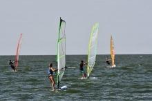 Windsurfers on Lake Winnipeg